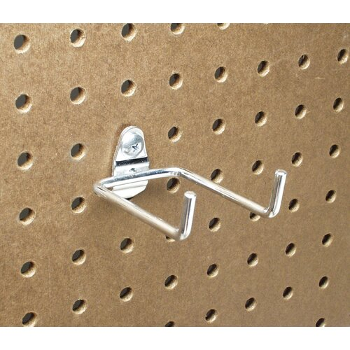 DuraHook 2-3/4 In. Double Rod 80 Degree Bend 1/4 In. Dia. Zinc Plated Steel Pegboard ...