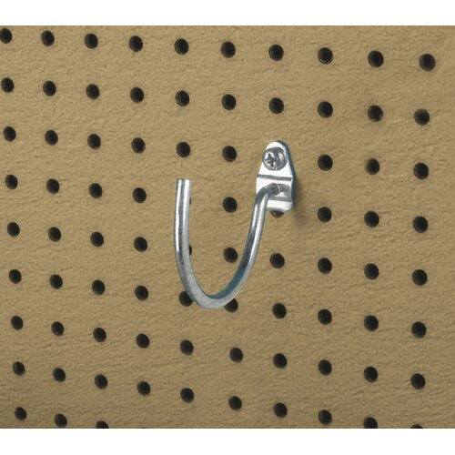 DuraHook 3-3/4 In. Curved 3-3/32 In. I.D. Zinc Plated Steel Pegboard Hook for DuraBoard, 10 ...