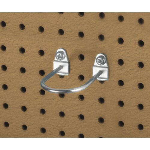 Triton Products DuraHook 2-7/8 In. L, 1-3/4 In. I.D. Zinc Plated Steel Double Mount U Shape Pegboard Hook for DuraBoard, 5 Pack