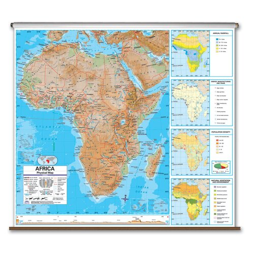 Universal Map Advanced Physical Map - Africa