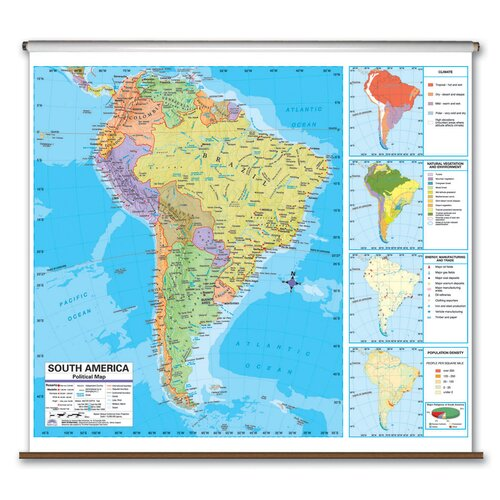 Universal Map Advanced Political Map - South America