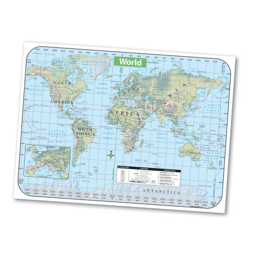 Universal Map Shaded Relief Map - World
