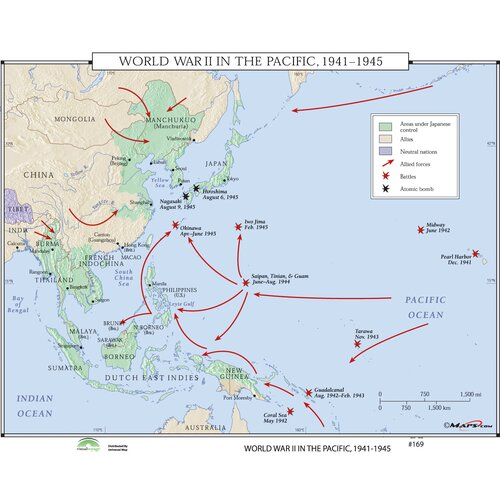 Universal Map World History Wall Maps - World War II in the Pacific