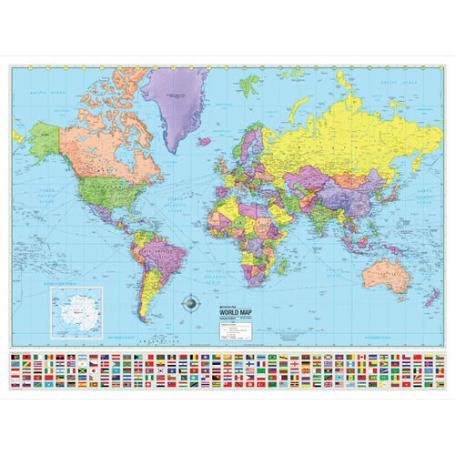 Universal Map World Advanced Political Mounted Wall Map