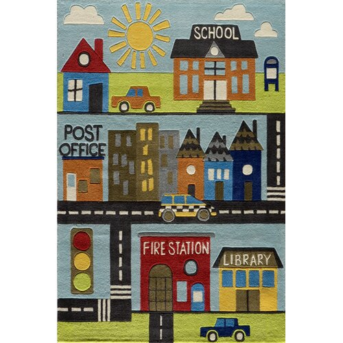 Momeni Lil' Mo Lil Mo Whimsy Town Kids Rug