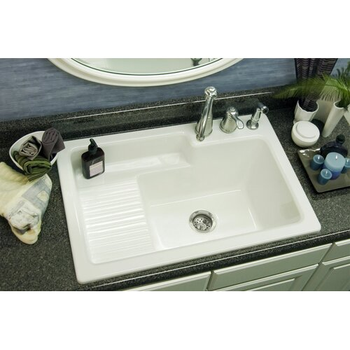 "CorStone Advantage Series Hamilton 33"" x 22"" Self Rimming Laundry Sink"