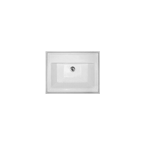 -1Advantage Chesnee Self Rimming Rectangle Bathroom Sink