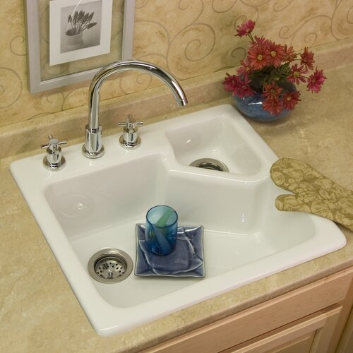 "CorStone Advantage Series 25"" x 22"" Quidnick Single Bowl Self Rimming Kitchen Sink"
