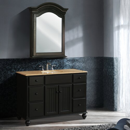 "Stufurhome Alvina 48"" Single Bathroom Vanity Set with"