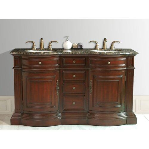 """Stufurhome Catherine 62"""" Double Bathroom Vanity Set"""