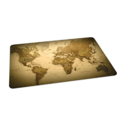 ES Robbins Corporation World Map Design Chair Mat