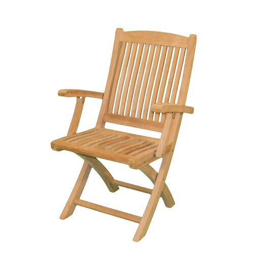 Jewels of Java Harbor Folding Dining Arm Chair