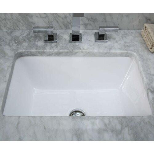 Xylem Undermount Rectangular Vitreous China Bathroom Sink