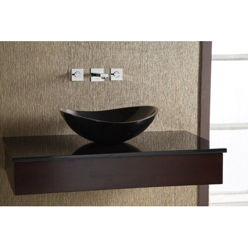 Xylem Oval Stone Vessel Bathroom Sink