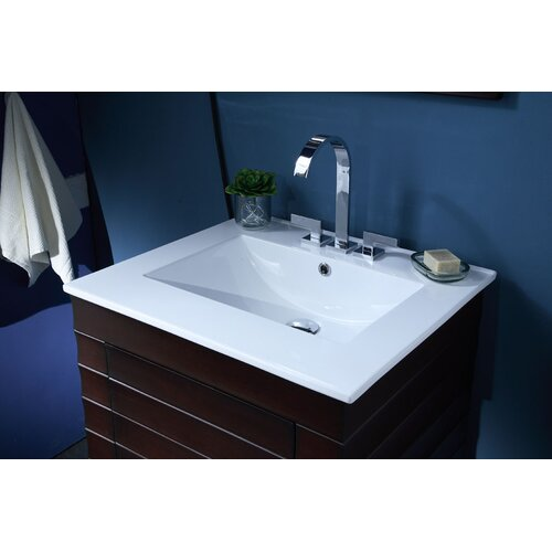 "Xylem 25"" Vanity Top with Rectangular Bowl"