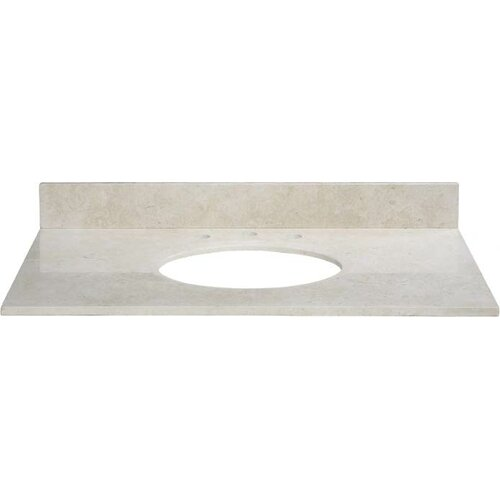 "Xylem 37"" Marble Vanity Top for Undermount Sink with Backsplash"
