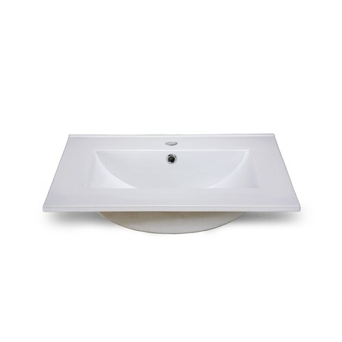 "Xylem 25"" Vanity Top with Square Bowl"