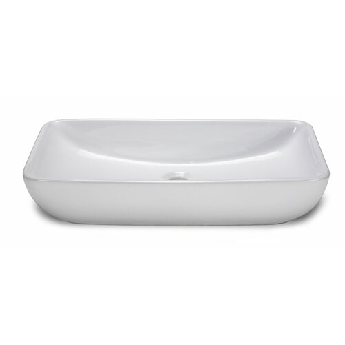 Xylem Rectangular Vitreous China Vessel Bathroom Sink