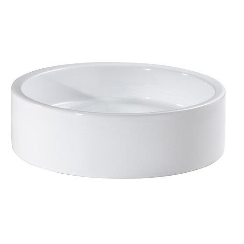 Cylinder Vitreous China Vessel Bathroom Sink