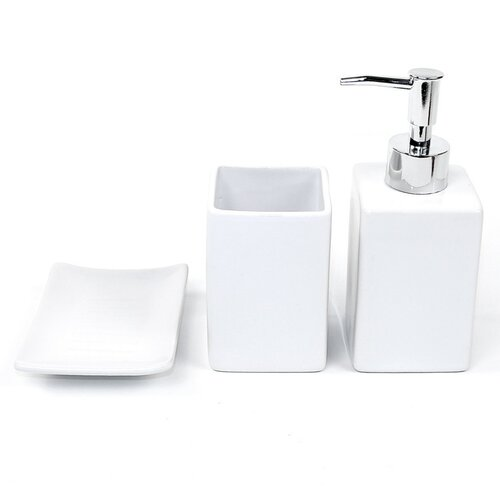 Gedy by nameeks verbena 3 piece bathroom accessory set for White bath accessories sets