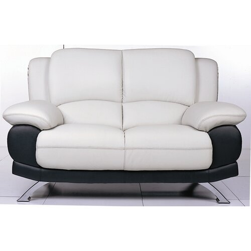 Caelyn Leather Loveseat