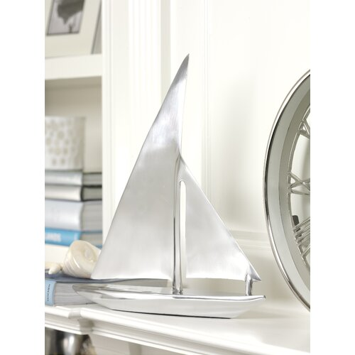 Zodax Decorative Aluminum Sailboat