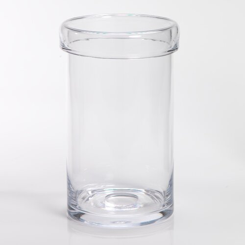 Cuffed Rim Glass Vase/Hurricane