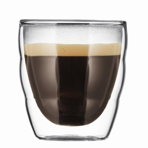 Bodum Bistro 2.5 Ounce Double-Walled Stackable Glasses