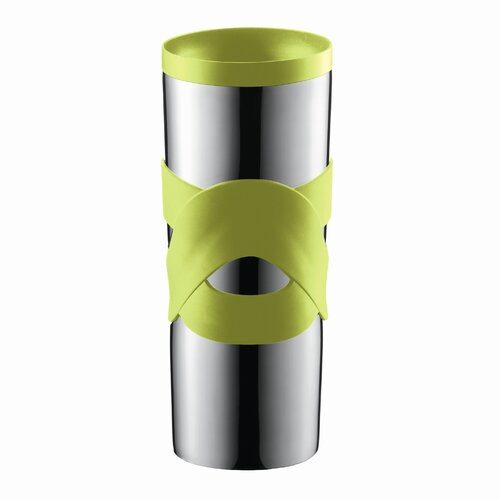 Bodum Bistro Double-Walled Stainless-Steel Travel Mug with Radial Sip-Anywhere Lid