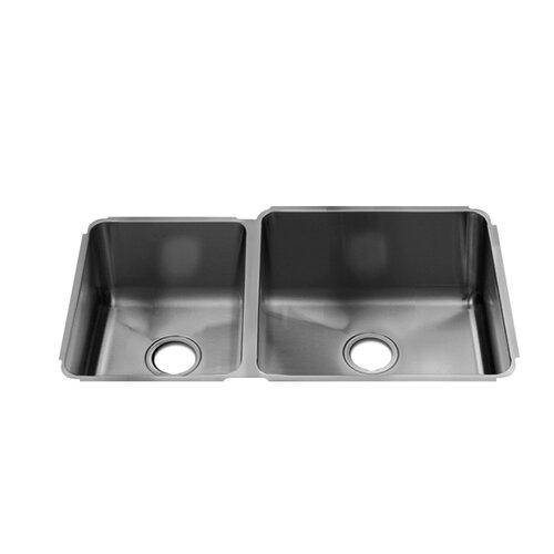 "Julien Classic 32"" x 19.5"" Undermount Double Bowl Kitchen Sink"