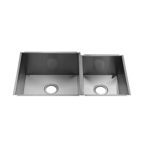 "Julien Classic 35"" x 17.5"" Undermount Double Bowl Kitchen Sink"