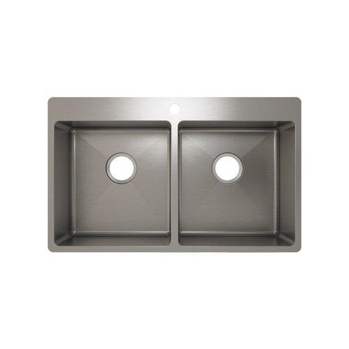 """Julien 30"""" x 15"""" J18 Topmount Kitchen Sink"""