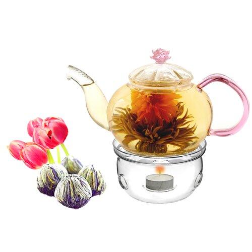 Tea Beyond Juliet 0.63-qt. Fab Flowering Tea Set