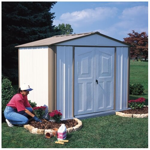 Dallas 8' W x 6' D Vinyl Coated Steel Storage Shed