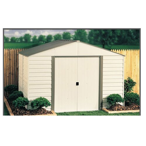 Milford 10' W x 8' D Vinyl Coated Steel Storage Shed