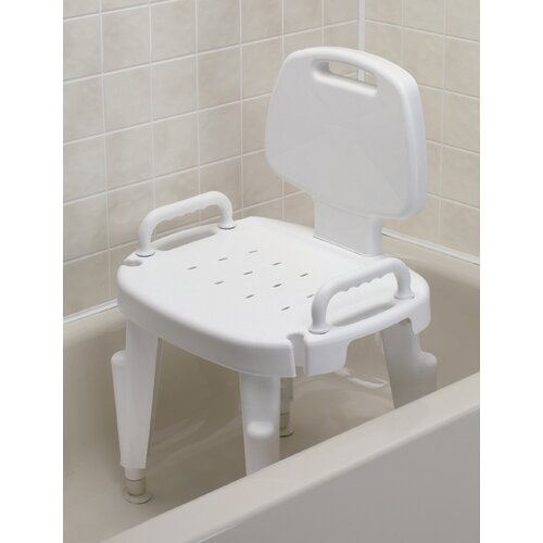 Maddak Adjustable Shower Chair with Arms and Back