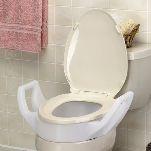 Maddak Elevated Raised Toilet Seat with Arms Standard