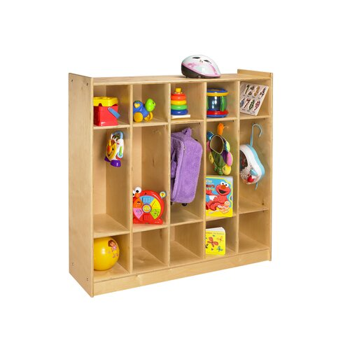A&E Wood Designs Cubbie Five Bay Coat Locker in Natural