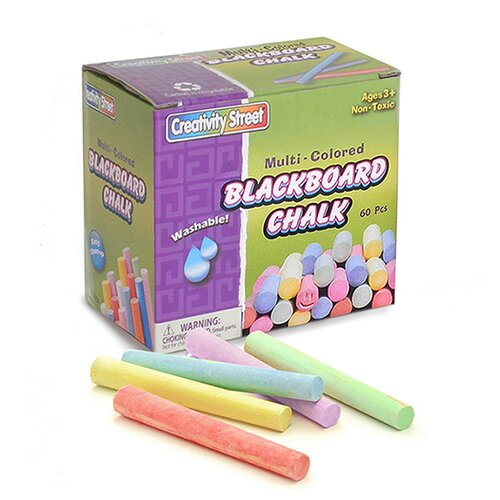 Chenille Kraft Company Blackboard Chalk 60 Pc Box Multi