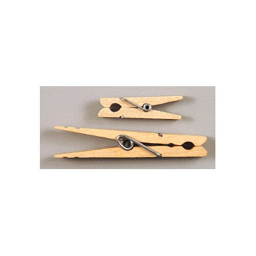 "Chenille Kraft Company Large Spring Clothespins Natural, 2 3/4"", 24 per Pack"
