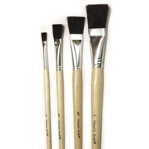 Chenille Kraft Company Black Bristle Easel Brush 6-set
