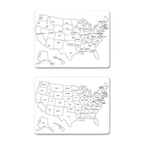 "Chenille Kraft Company USA Map 1' 11.6"" x 1' 6' Whiteboard"