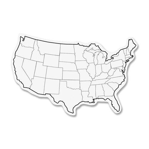 "Chenille Kraft Company Map 8"" x 1' Whiteboard"