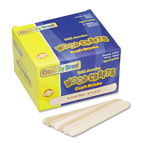 Chenille Kraft Company Natural Wood Craft Stick