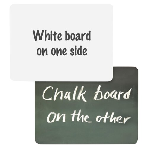 "Chenille Kraft Company 9"" x 12"" Whiteboard and Chalkboard"