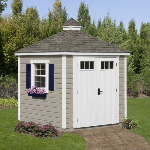 7' W x 7' D Colonial Wood Garden Shed
