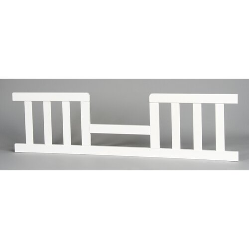 Logan Toddler Guard Rail for Stationary Crib in White
