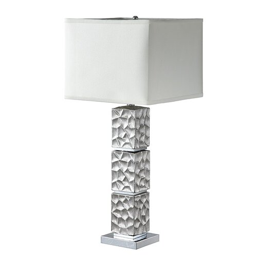 california ceramic and glass 32 h table lamp with rectangular shade. Black Bedroom Furniture Sets. Home Design Ideas