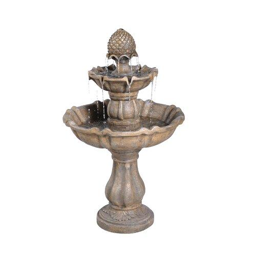Patella Fiberglass 2 Tiered Fountain