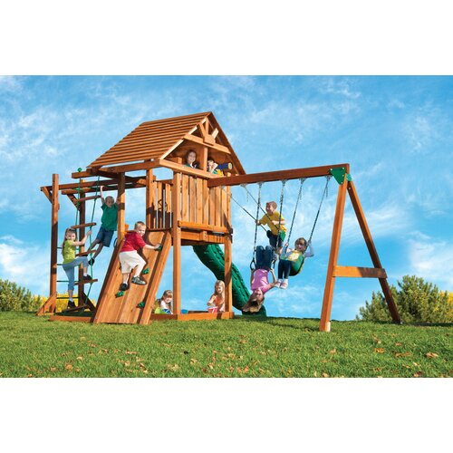 Kids Creations Redwood Circus 3 Swing Set